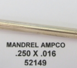 .250 OD X .016 WALL AMPCO 1 BALL MANDREL