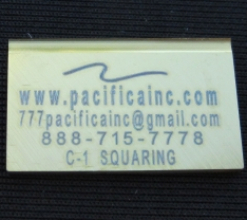 .065 THICK SQUARING DEBURRING BLADES TIN. COATED