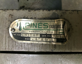 Pines #1 Hydraulic Tube Bender 016-45-242-00 Bend Cylinder