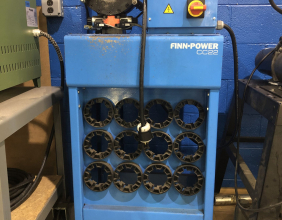 Used Finn Power CC22VS22 Hose Crimping Machine