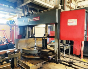 """2008 Vortman Standard 36"""" 3- Spindle Drill Line with Band Saw in tandem"""