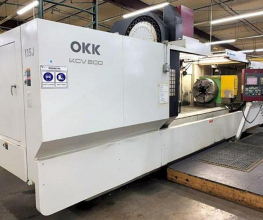 OKK, KCV-800, 120″ X Travel, 4th Axis CNC Vertical Machining Center