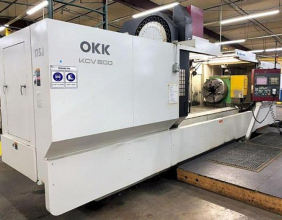 OKK, KCV-800, 120″ X Travel, 4th Axis CNC Vertical Machining Center